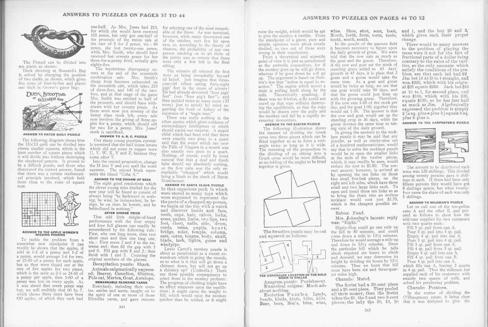 Sam Loyd - Cyclopedia of Puzzles - page 344-345