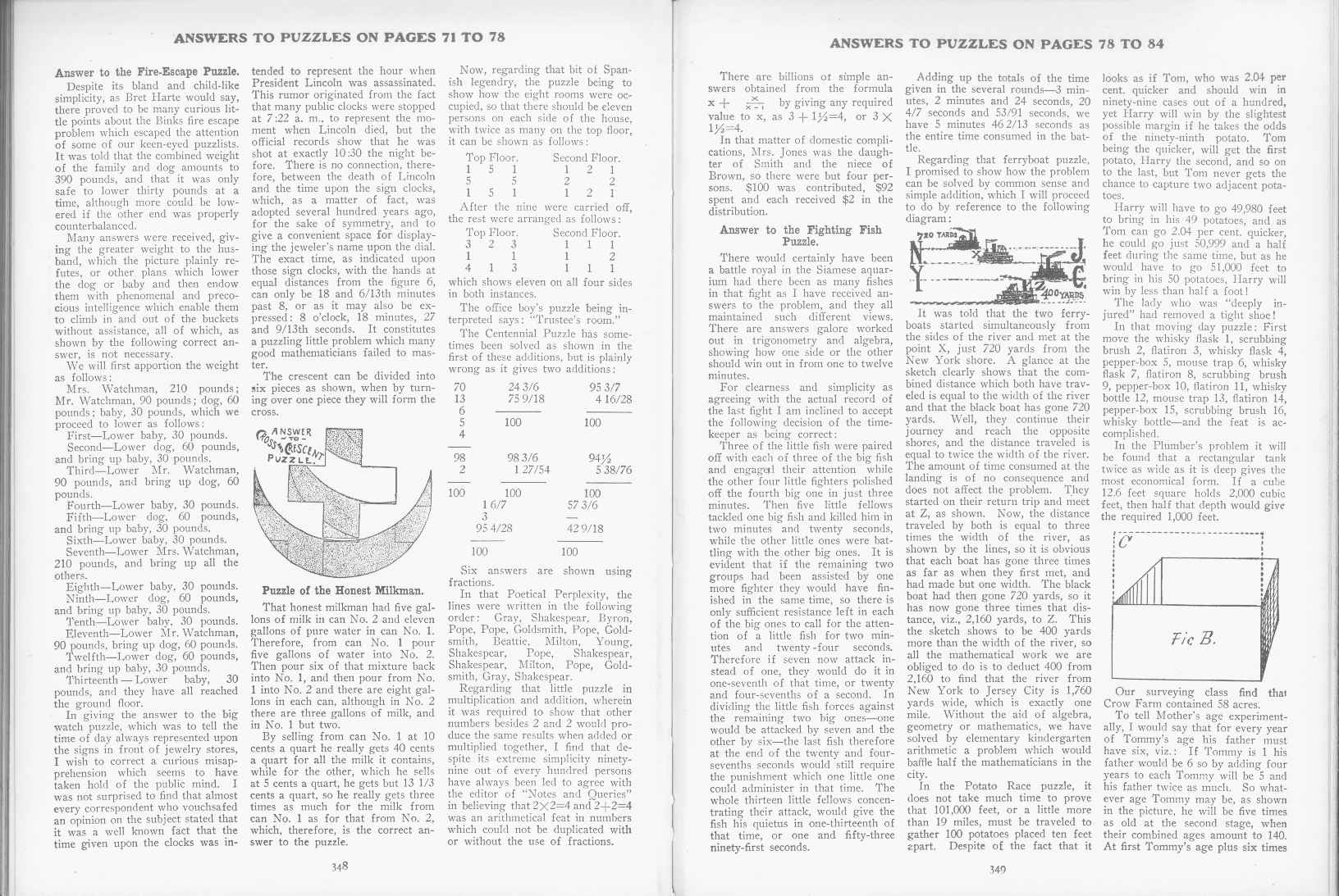 Sam Loyd - Cyclopedia of Puzzles - page 348-349