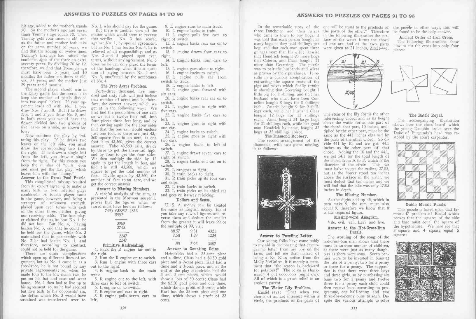 Sam Loyd - Cyclopedia of Puzzles - page 350-351