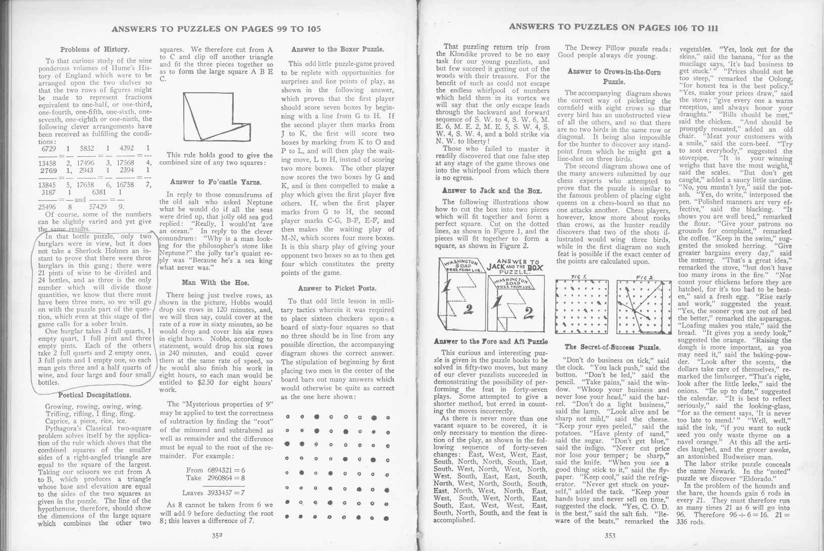Sam Loyd - Cyclopedia of Puzzles - page 352-353