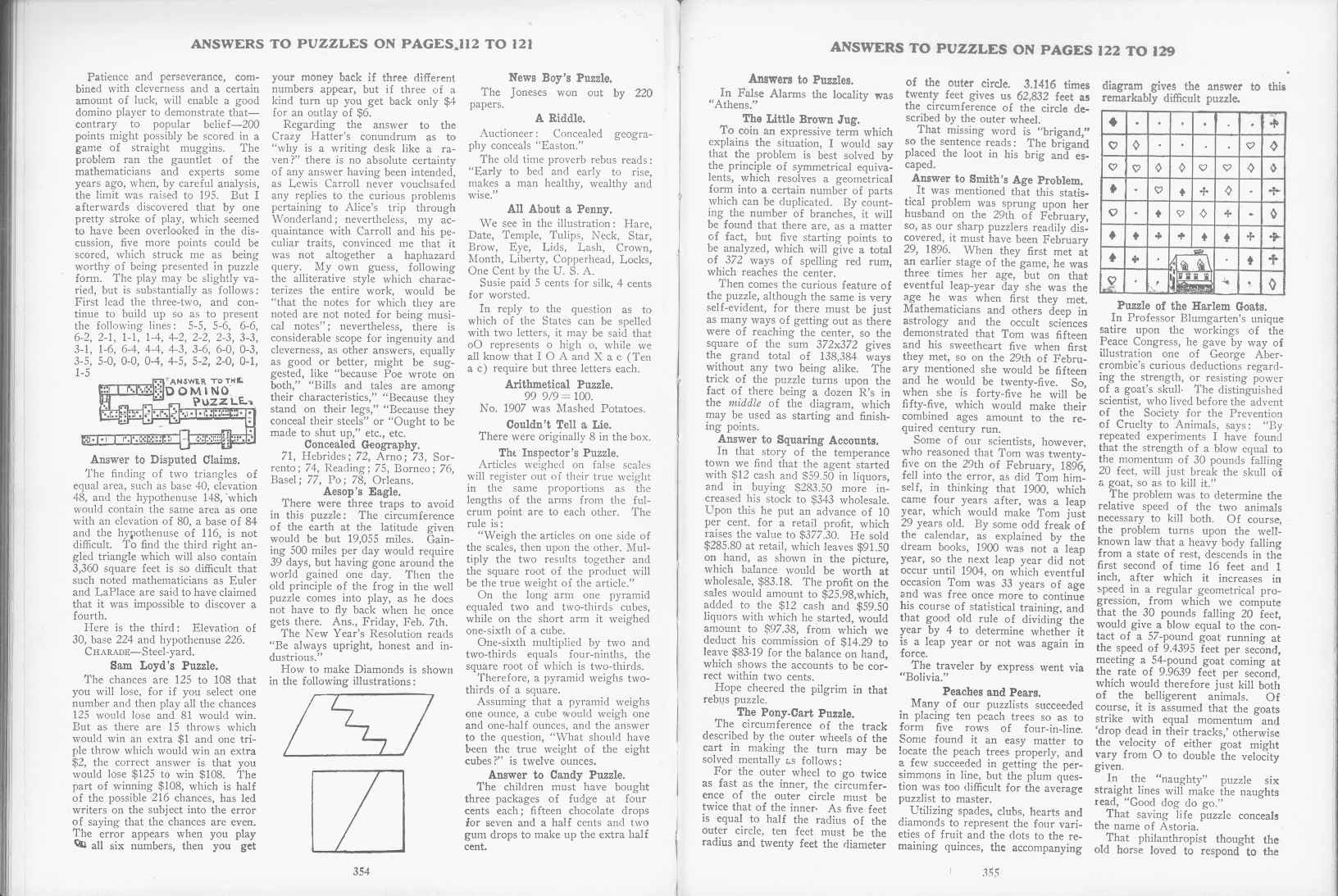 Sam Loyd - Cyclopedia of Puzzles - page 354-355
