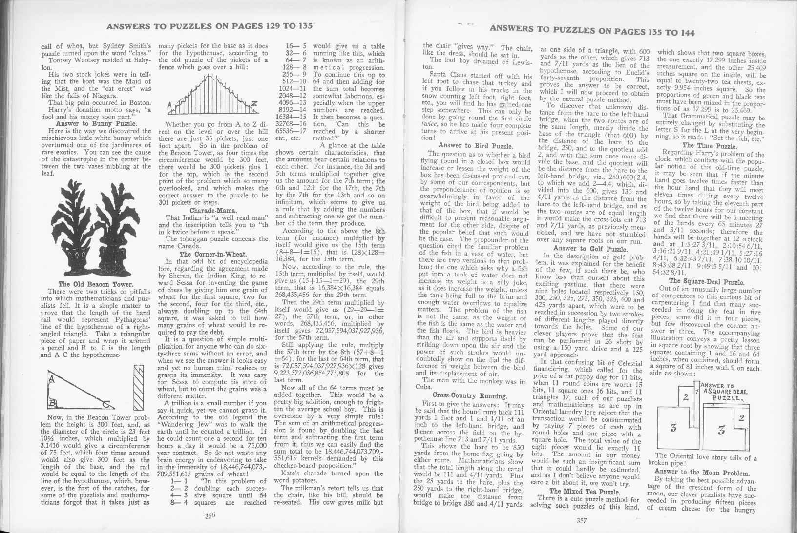 Sam Loyd - Cyclopedia of Puzzles - page 356-357