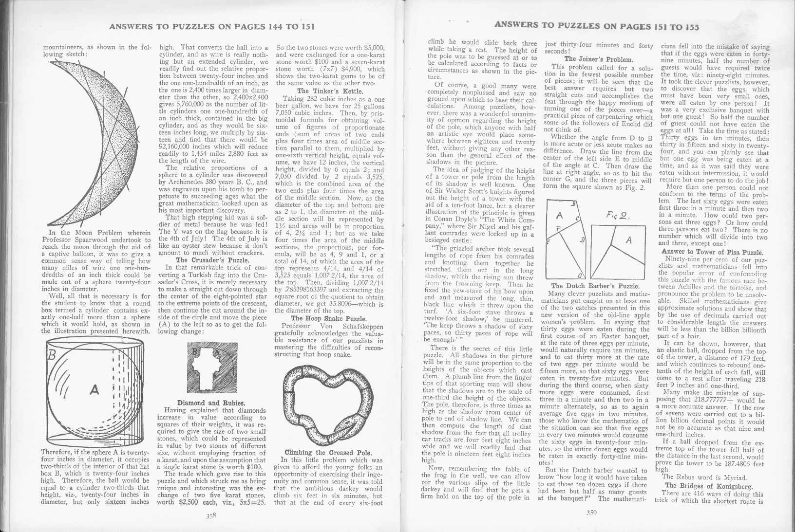 Sam Loyd - Cyclopedia of Puzzles - page 358-359