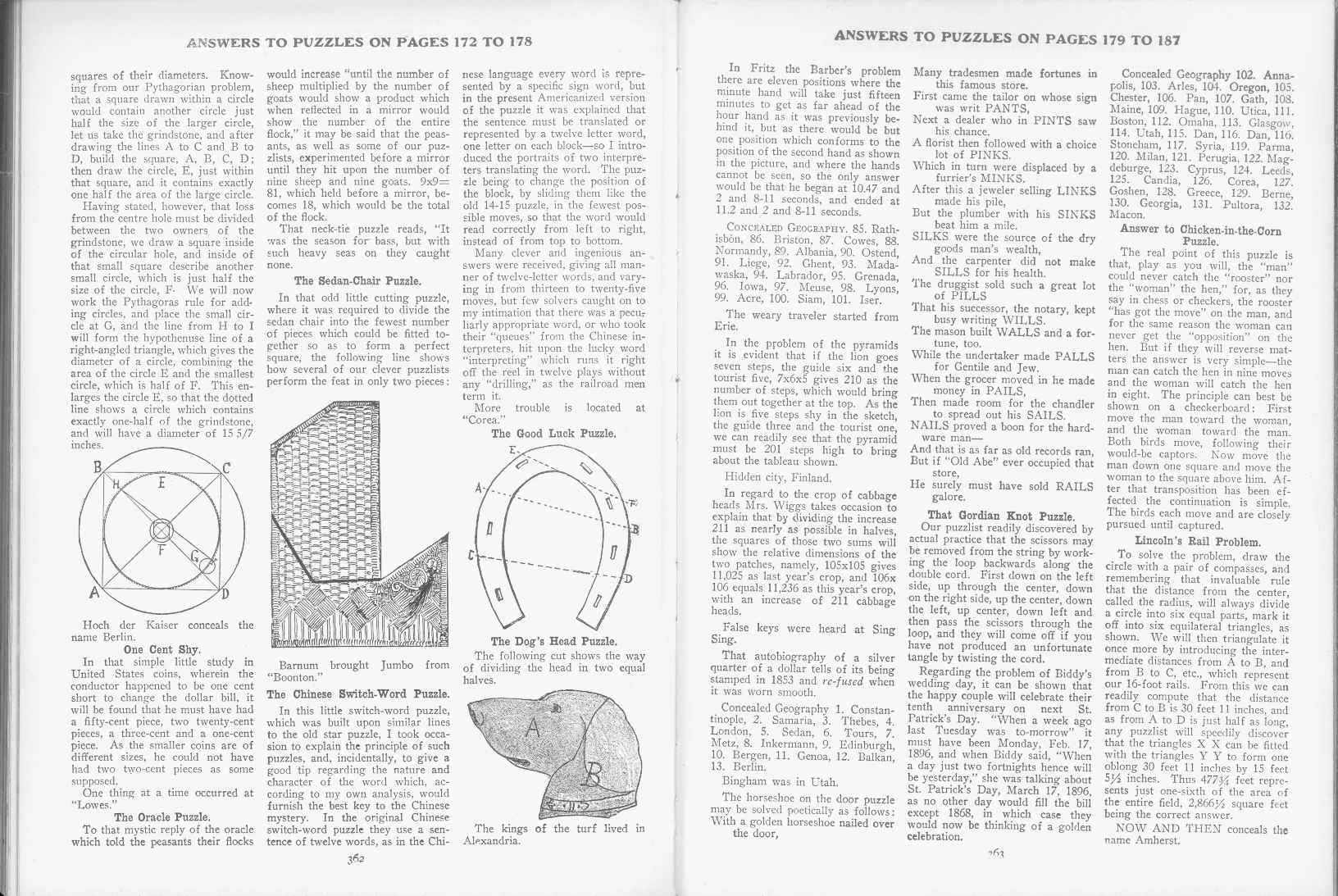 Sam Loyd - Cyclopedia of Puzzles - page 362-363