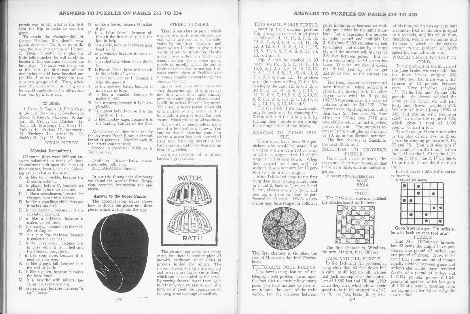 Sam Loyd - Cyclopedia of Puzzles - page 370-371