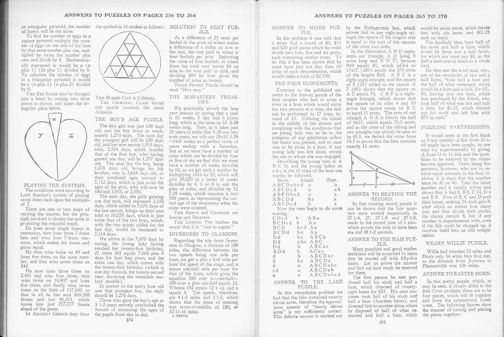 Sam Loyd - Cyclopedia of Puzzles - page 374-375