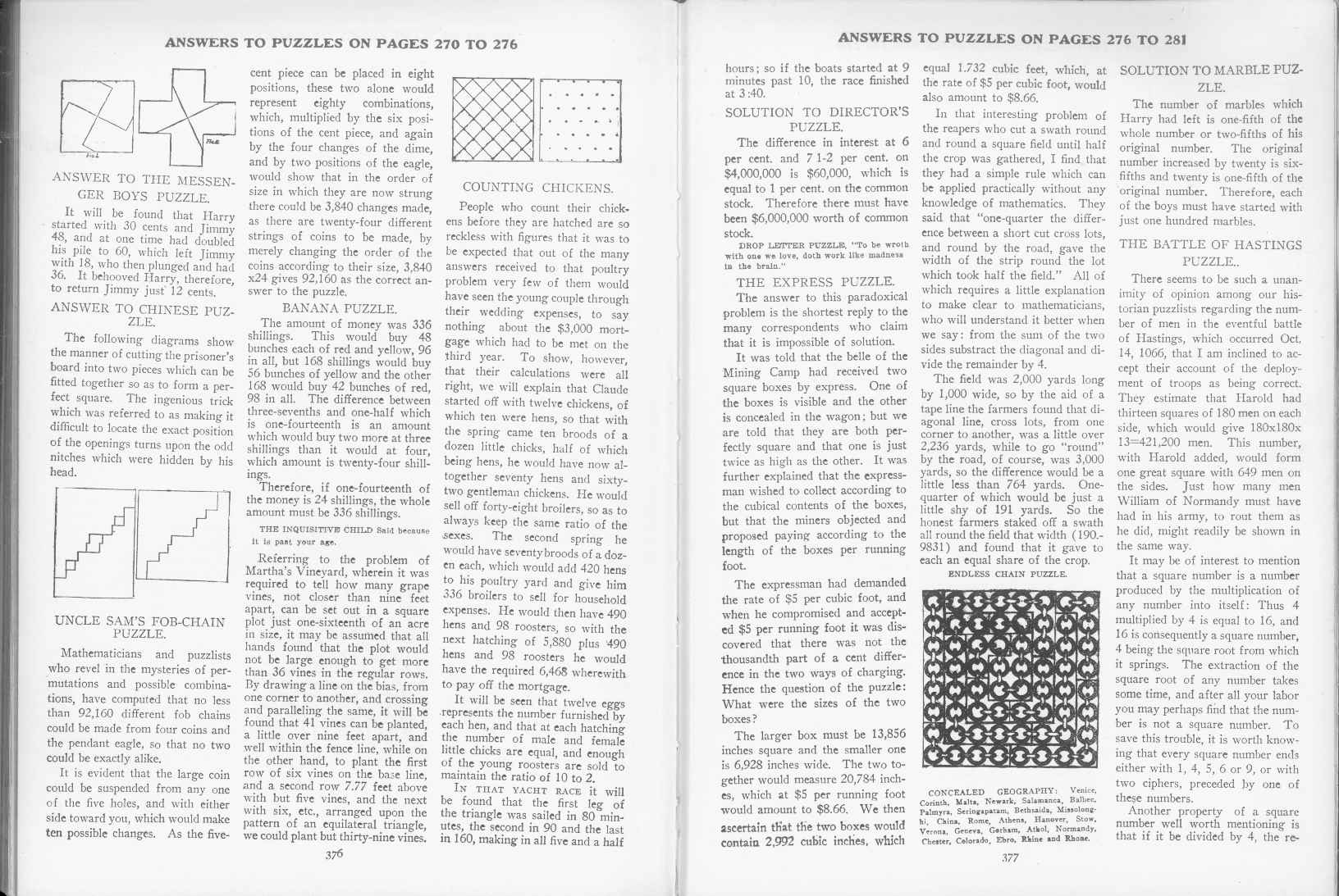 Sam Loyd - Cyclopedia of Puzzles - page 376-377
