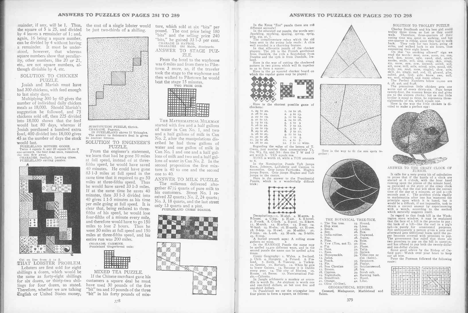 Sam Loyd - Cyclopedia of Puzzles - page 378-379