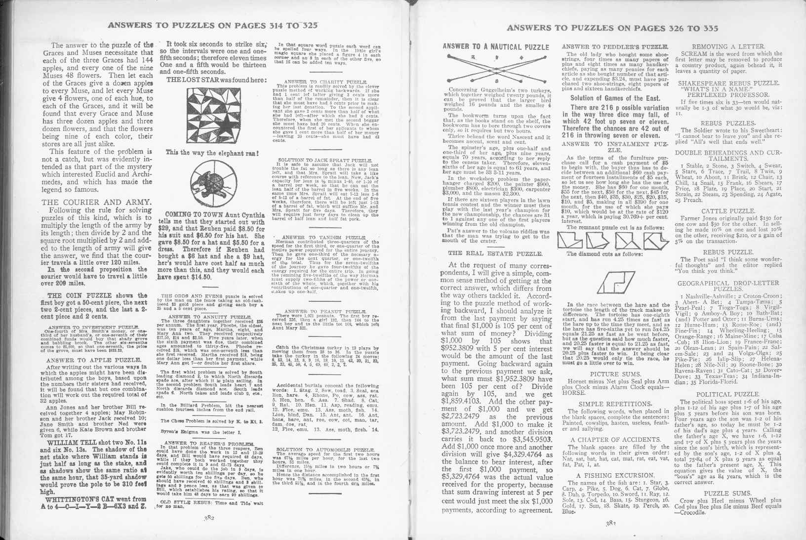 Sam Loyd - Cyclopedia of Puzzles - page 382-383